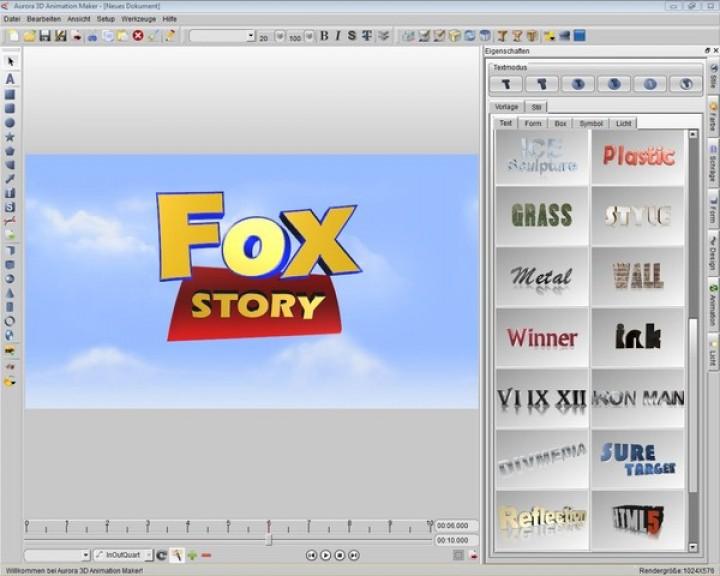 Aurora 3d Animation Maker 13 Grafik 3d Topos Software