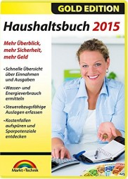 Haushaltsbuch 2015 + GRATIS Version 2016